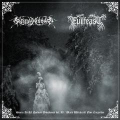 Evilfeast / Gnipahålan - Storm av rå Nordisk Dödskonst del. II / Black Witchcraft Over Carpathia (CD)